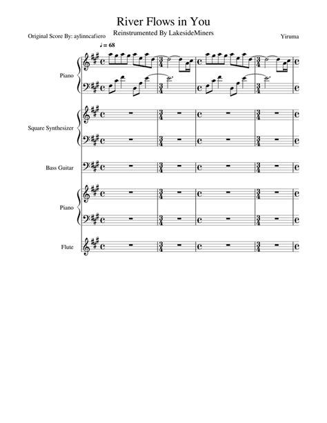Hey guys.welcome to my site.you can download free piano sheet music from this site. River Flows in You Sheet music for Piano, Flute, Synthesizer, Bass | Download free in PDF or ...