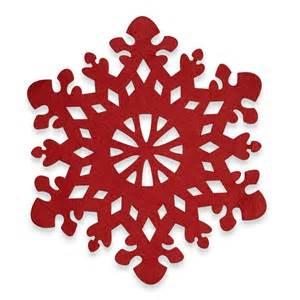 snowflake felt placemat