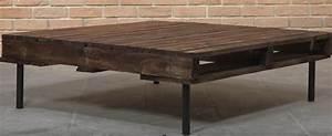 Fabriquer Une Table Basse En Palette : diy pour fabriquer une table basse en palette pour 30 euros ~ Melissatoandfro.com Idées de Décoration