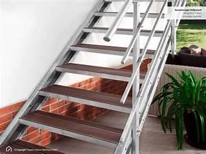 Außentreppe Berechnen : au entreppe feuerverzinkt mit gel nder und stufen aus wpc ~ Themetempest.com Abrechnung