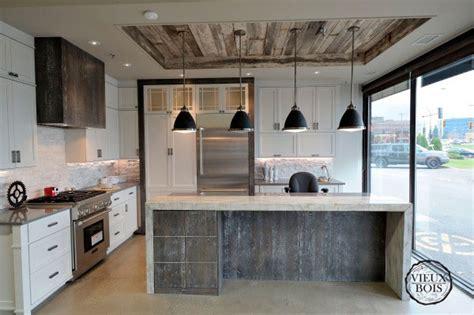 meuble cuisine pas cher et facile vieuxbois bois de grange design ébénisterie laurentides