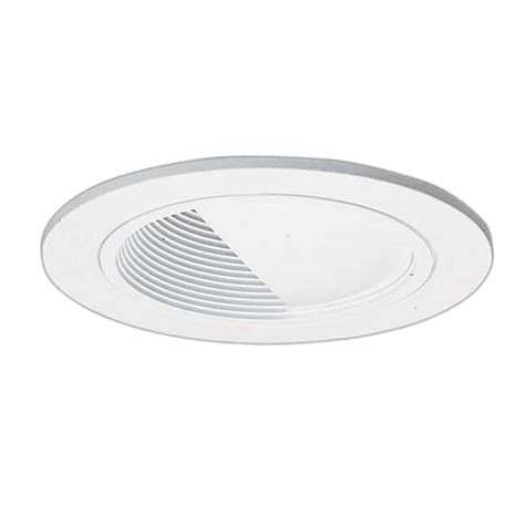 halo 4 in white recessed lighting wall wash baffle trim