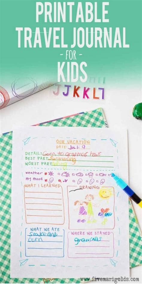 Travel Template For Kids by Printable Travel Journal Template For Kids Scrap Booking