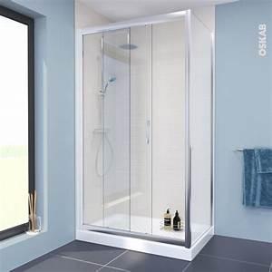 porte de douche coulissante olympe 120 cm verre With monter porte douche
