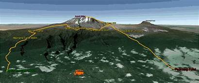 Route Machame Climb Kilimanjaro Map Routes Destination