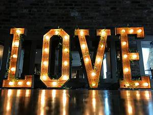 illuminated love letters and hindi pyaar lights deluxe With 4 foot wooden letters