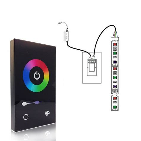 wall glass touch dimmer controller 12 24v for rgb