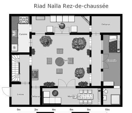 moroccan riad floor plan google search floor plans small house plans house plans