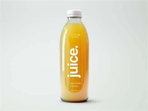 Psd file consists of smart objects…. Small Glass Bottle Juice Mockup | Free Mockup