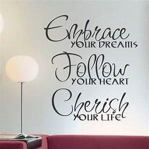 vinyl wall lettering words quotes embrace dreams by With vinyl wall lettering quotes