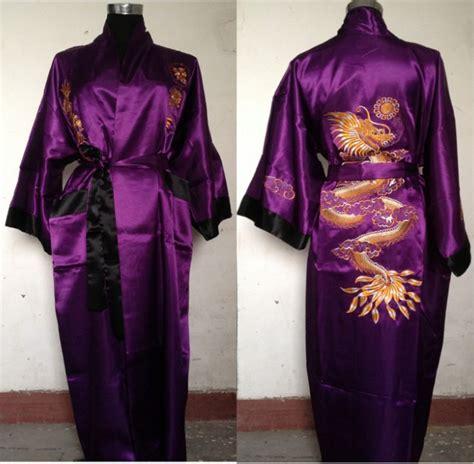 robe de chambre femme satin fashion europe mens purple black silk satin robe