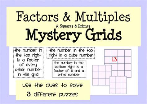 factors multiples primes activity worksheet by