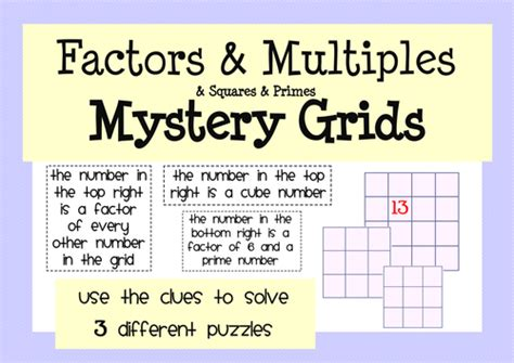 Factors, Multiples & Primes Activity & Worksheet Pack By Mathspaduk  Teaching Resources Tes