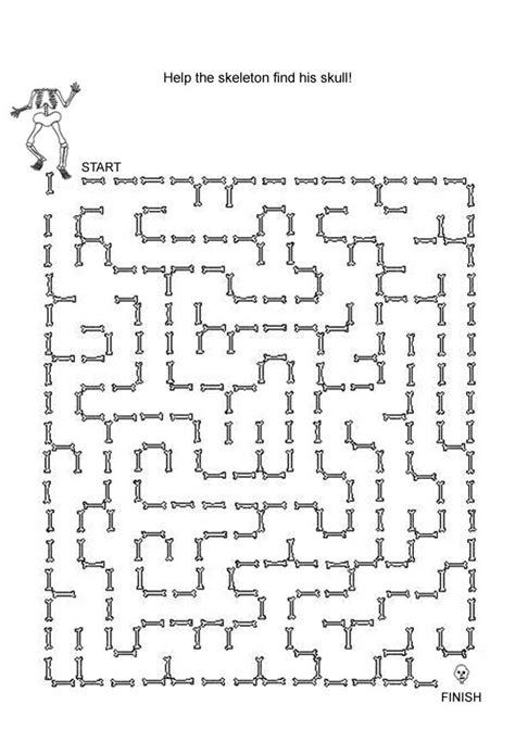 printable kids games halloween maze