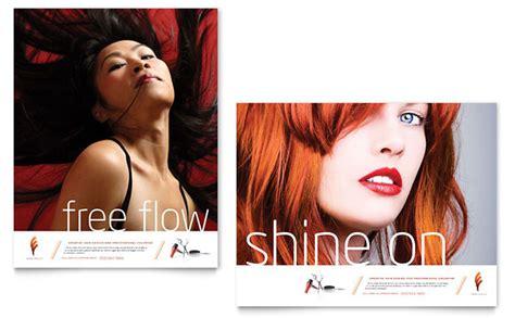 hair stylist salon poster template design