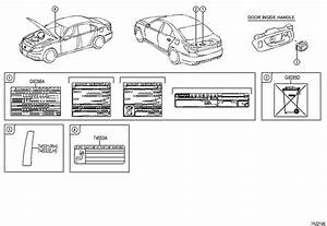 2010 Toyota Prius Label  Battery  Charging  Notice  Info