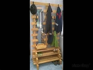 Porte Manteau Chaussure : meuble porte manteaux range chaussures par papy la palette ~ Preciouscoupons.com Idées de Décoration