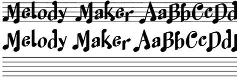 melody maker font family by harold s fonts font bros