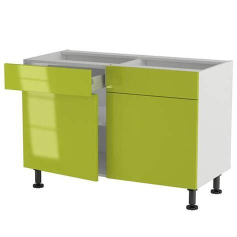 element cuisine bas meuble cuisine bas 120cm 2 tiroirs portes 60 70 achat