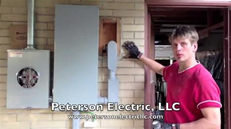 overhead electrical panel meter service change part