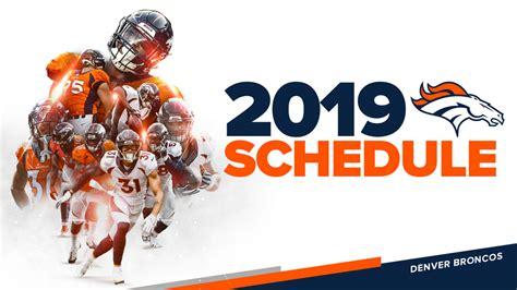 broncos  regular season schedule released