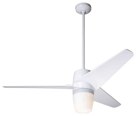 Modern White Ceiling Fans by 50 Quot Modern Fan Velo Gloss White Ceiling Fan With Light Kit