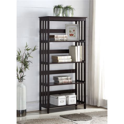 Furniture Etagere by Roundhill Furniture 60 Quot Etagere Bookcase Reviews Wayfair