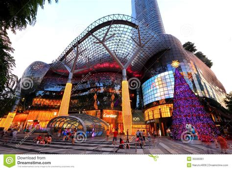 ion orchard shopping mall singapore editorial photo