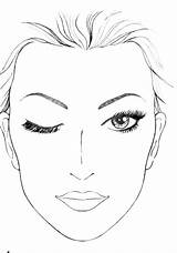 Face Makeup Template Blank Drawing Charts Coloring Chart Mac Sketchite sketch template