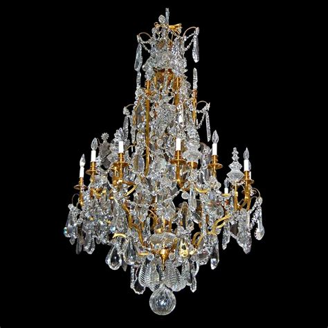 Baccarat Chandelier by Baccarat Chandelier With Bronze Frame 19th C