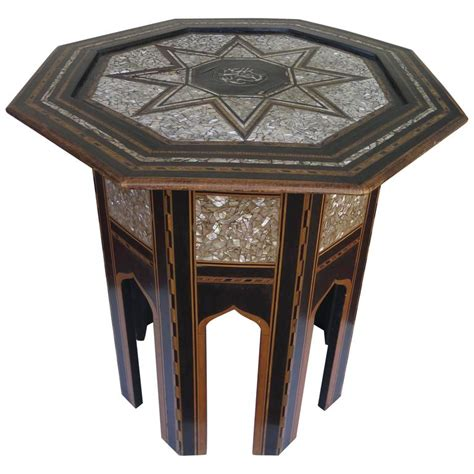mother of pearl end table 19th century ottoman or moorish end table with mother of