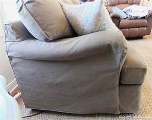dog friendly denim slipcover the slipcover maker With denim sectional sofa slipcovers