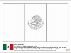 Mexico Flag coloring page Free Printable Coloring Pages