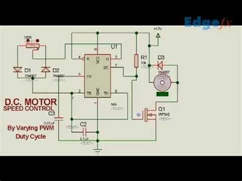 dc motor speed controller circuit  pwm electrical
