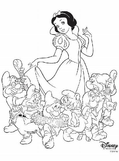 Coloring Snow Disney Crayola Princess Principesse Biancaneve
