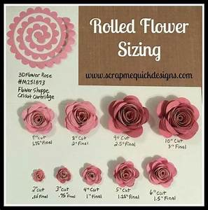 rolled paper flower sizing chart cricut paper flowers With rolled paper roses template