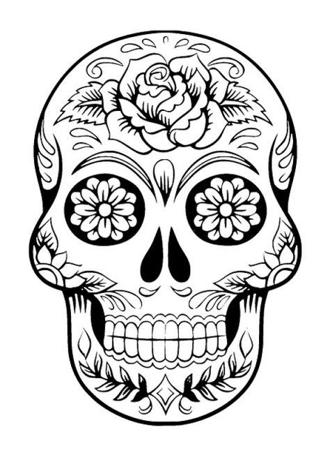 Tattoo Design Meaning Strength | Skull coloring pages