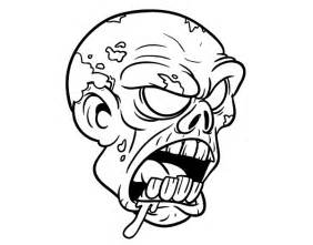 Zombie Head Coloring Pages