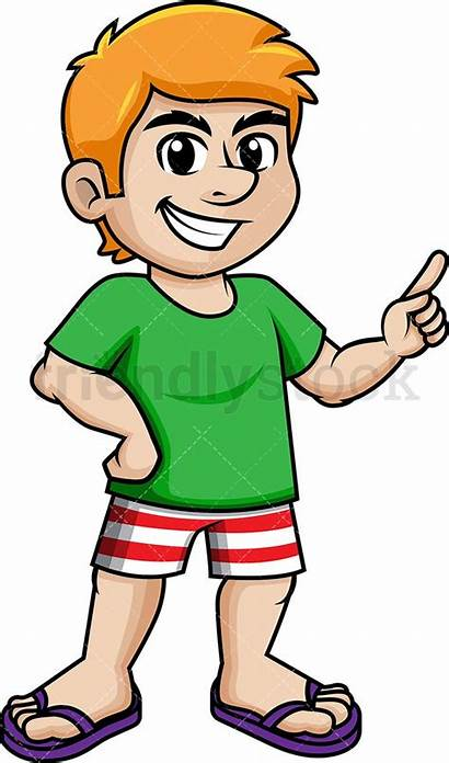 Cartoon Summer Vector Clipart Dressed Wear Clip