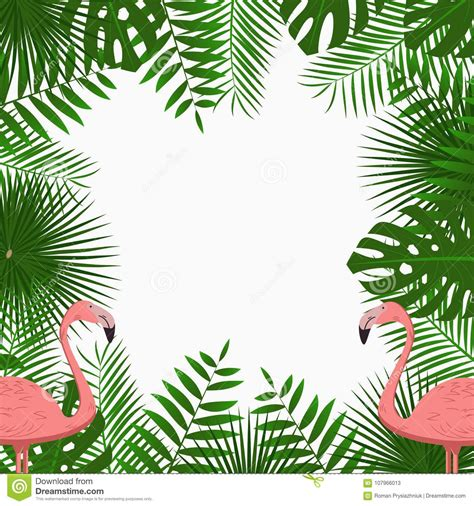 tropical poster template tropical card poster or banner template with jungle palm