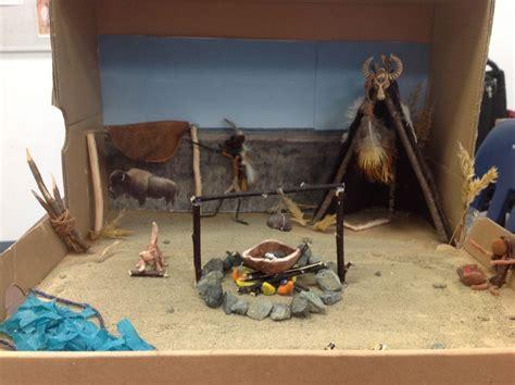 prairie diorama native american projects diorama kids