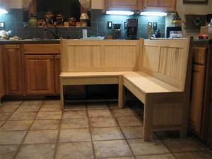 Kitchen corner bench for a nook - by 7Kcraftsman