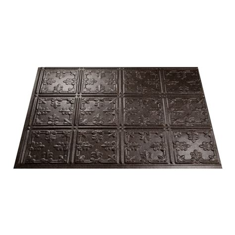 fasade decorative thermoplastic panels home depot shop fasade 18 5 in x 24 5 in smoked pewter thermoplastic