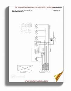 Cub Cadet Parts Manual For Model 3205 Tractor