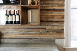 Reclaimed wood bar - Rustic - Wine Cellar - new york - by