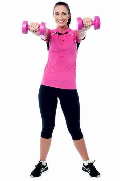 Clipart Exercising Female Fitness Dumbbell Transparent Exercise