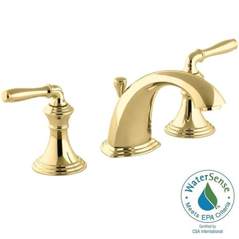 Polished Brass Bathroom Faucet 8 by Kohler Devonshire 8 In Widespread 2 Handle Low Arc