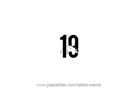 nineteen  number tattoo designs tattoos  names