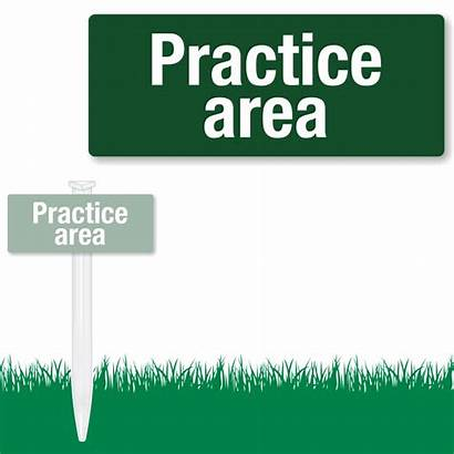Sign Golf Signs Practice Es Area Cart