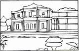 Hotel Coloring France Coloringpages101 Houses Designlooter 44kb 424px sketch template
